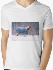Equine Snowstorm Two Mens V-Neck T-Shirt
