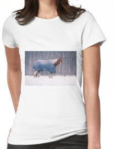 Equine Snowstorm Two Womens Fitted T-Shirt