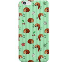 Red Panda Apple Cherry Pattern iPhone Case/Skin