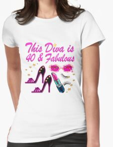 HAPPY 40TH BIRTHDAY Womens Fitted T-Shirt