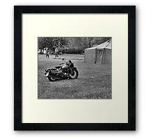 World War 2 Harley Davidson Motorcycle Framed Print
