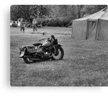 World War 2 Harley Davidson Motorcycle Canvas Print
