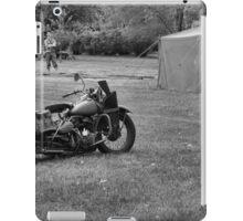World War 2 Harley Davidson Motorcycle iPad Case/Skin