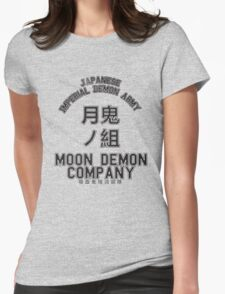 Moon Demon Company (Black) Womens Fitted T-Shirt
