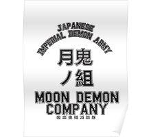 Moon Demon Company (Black) Poster