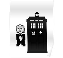 First Doctor Pixel Art Poster