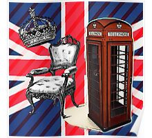 modern jubilee telephone booth london UK fashion Poster