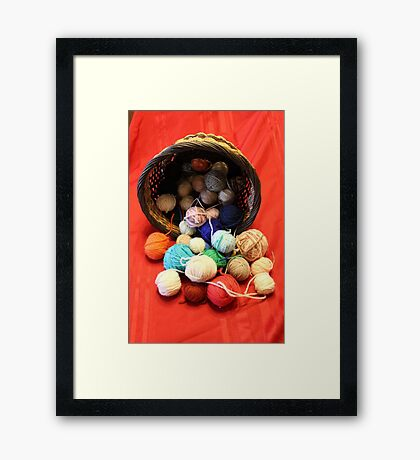 Knitting Yarn Framed Print