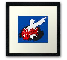 Objection! Framed Print