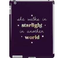 She walks in starlight in another world iPad Case/Skin