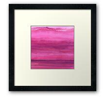 Ombre Waves Sunset Framed Print