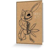 Sneasel's Inner Workings: Pokemon Anatomy Greeting Card