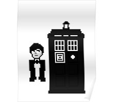 Second Doctor Pixel Art Poster