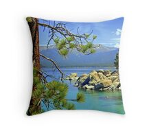 """Good Morning From Lake Tahoe"" Throw Pillow"