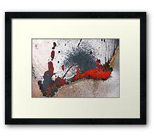 Black, White And 'Red' All Over Framed Print