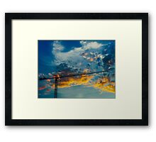 Construction Crane Framed Print