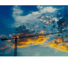 Construction Crane Photographic Print
