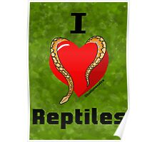 "Normal Reticulated Python ""I <3 Reptiles"" Art Poster"