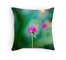 One - Single - Lone Flower Throw Pillow