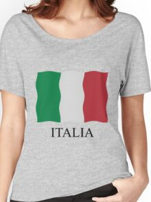 Italia flag Women's Relaxed Fit T-Shirt