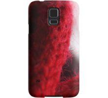 Macro Red Yarn Photograph Samsung Galaxy Case/Skin