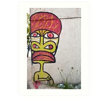 Urban Graffiti Totem  Art Print