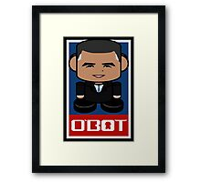Renegade O'bamabot Toy Robot 1.1 Framed Print