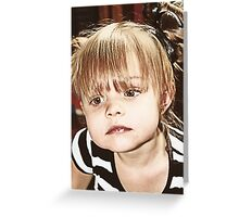 Little Girl Reflecting Greeting Card