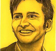 David Tennant celebrity portrait by Margaret Sanderson