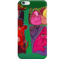 doodle animals hanging out iPhone Case/Skin