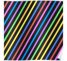 Colourful trippy stripes Poster