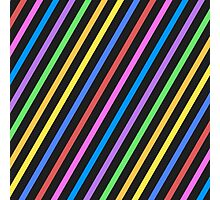 Colourful trippy stripes Photographic Print