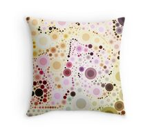 pretty girly pastel mint pink yellow pastel bubbles Throw Pillow