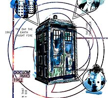 Sci Fi Film Timeline Collection - TARDIS (Doctor Who) by jhepworthart