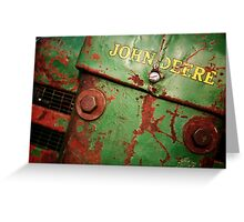 John Deere: Rusted  Greeting Card