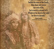 Native American Indian couple Chief Seattle quote by Irisangel