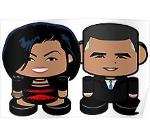 Obamas: Greater Together Politico'bot Toy Robots Poster