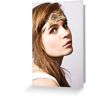 alessandra with headband Greeting Card