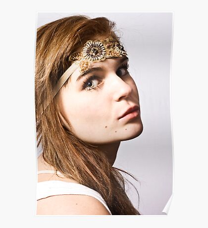alessandra with headband Poster