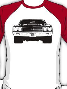1970 Chevy Chevelle - Black & White T-Shirt