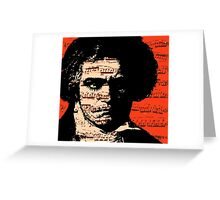 A Clockwork Beethoven. Greeting Card
