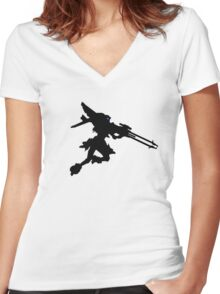 Pale Wing Women's Fitted V-Neck T-Shirt