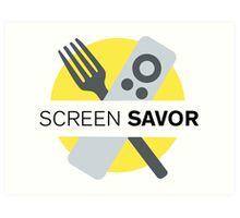 Screen Savor Podcast Logo Art Print