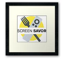 Screen Savor Podcast Logo Framed Print