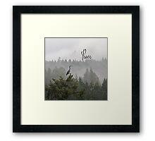 Zen Heron Framed Print