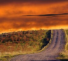 Shale Road sunset by kfbphoto