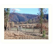 Black Saturday Bushfires in Victoria Art Print