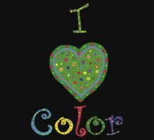 I Love Color Baby Tee