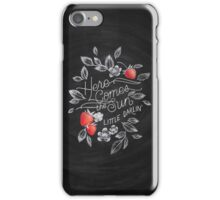 Here Comes the Sun - Beatles Chalk Art iPhone Case/Skin