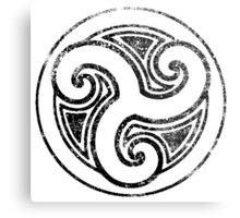 Skyrim Distressed Morthal Logo - B&W Metal Print